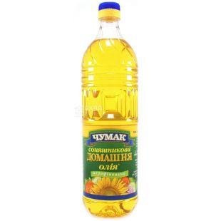 Чумак, Масло подсолнечное домашнее нерафинированное, 900 мл