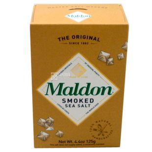 Maldon, Сіль пластівцями копчена, 125 г