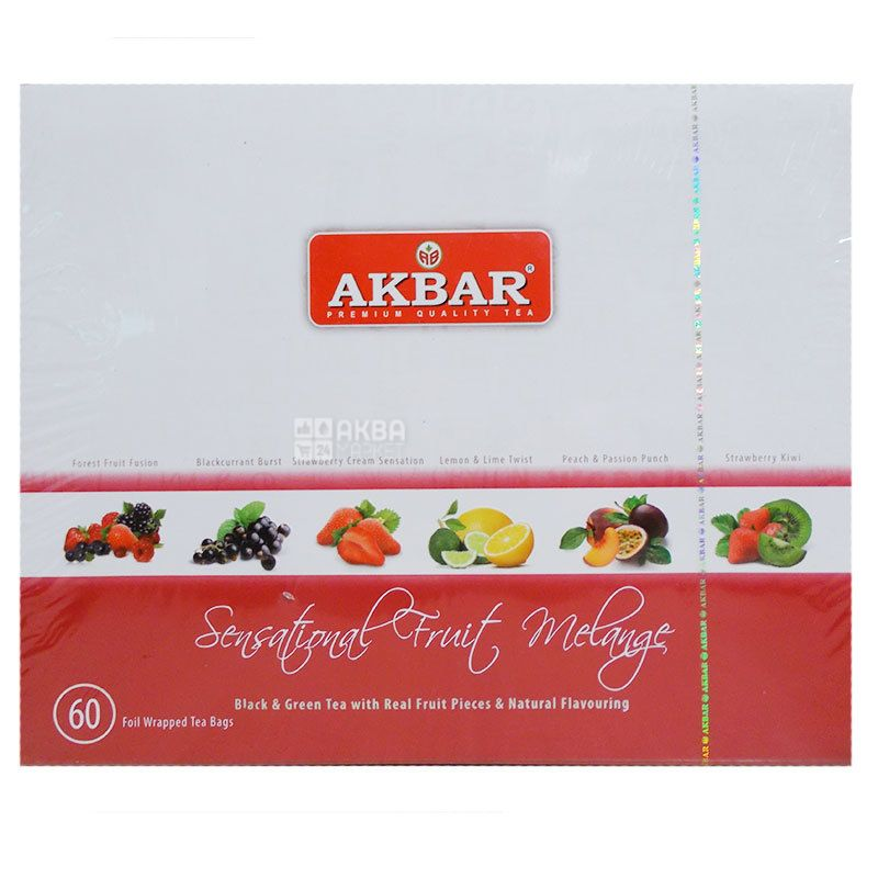 Akbar Fruit Melange, 60 pack pack, Gift set of tea, assorted, Akbar Fruit Melange