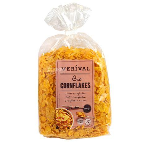 Verival, 250 г, Хлопья Веривал, кукурузные, органические, без глютена, быстрого приготовления
