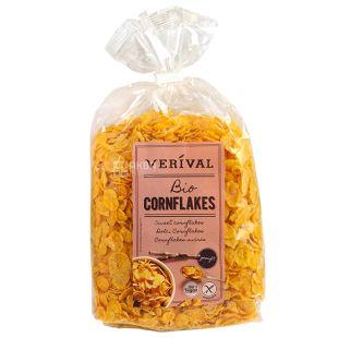 Verival, 250 г, Пластівці Верівал, кукурудзяні, органічні, без глютену, швидкого приготування