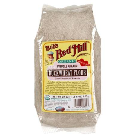 Bob's Red Mill, Buckwheat Flour, 0,623 кг, Мука Бобс Ред Милл, гречневая, органическая