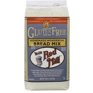 Bob's Red Mill, Bread Mix, 0,453 кг, Борошно Бобс Ред Мілл, суміш для випічки домашнього хліба, без глютену