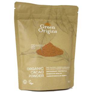 Green Origins, Какао-порошок, органический, 150 г