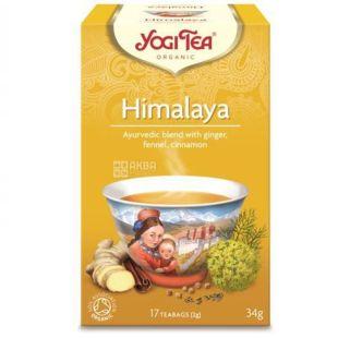 YogiTea, Himalaya, 17 пак., Чай ЙогіТі, Гімалайі, з інжиром, фенхелем і корицею, органічний