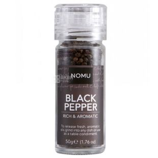 Nomu, black pepper in a mill, 50 g