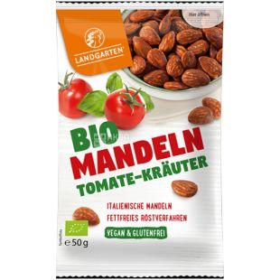 Landgarten, Миндаль органический жареный с помидорами и травами, 50 г