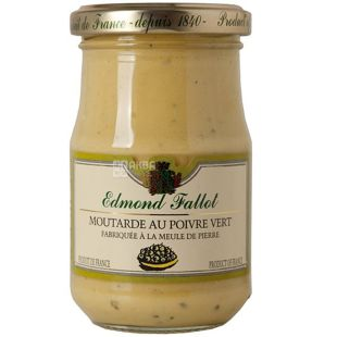 Edmond Fallot, Горчица дижонская с зеленым перцем, 210 г