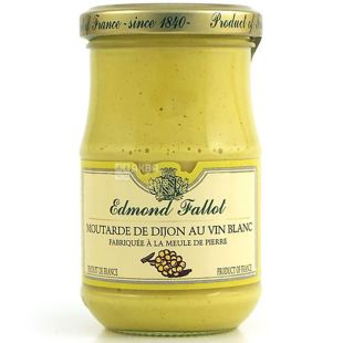 Edmond Fallot, Dijon Mustard with White Wine, 210 g