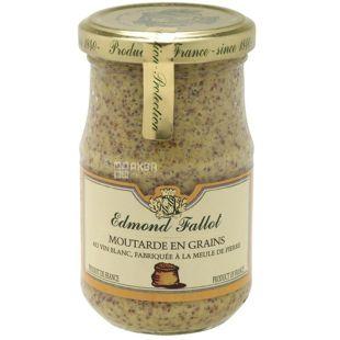 Edmond Fallot, Горчица дижонская в зёрнышках с белым вином, 210 г