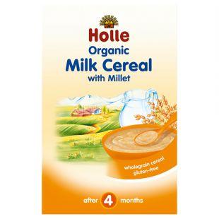 Holle, Каша молочная злаковая с пшеном, органическая (с 4 месяцев), 250 г