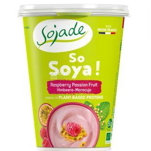 Sojade, Йогурт соевый Маракуя Малина органический, 400 г