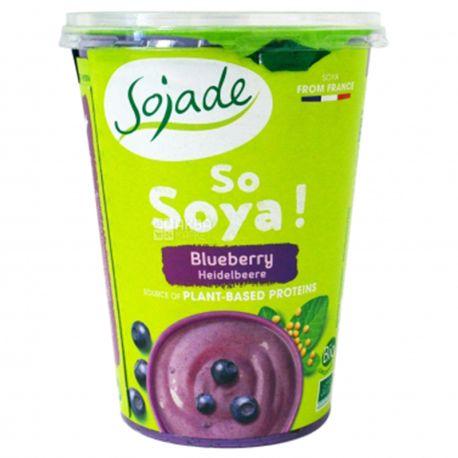 Sojade So Soya Blueberry Organic, 400 г, Сояде, Йогурт соевый органический, черника, без глютена и лактозы
