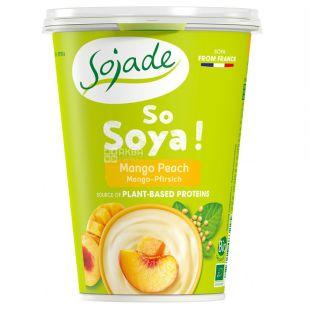 Sojade So Soya Mango Peach Organic, 400 г, Сояде, Йогурт соевый органический, манго и персик, без глютена и лактозы