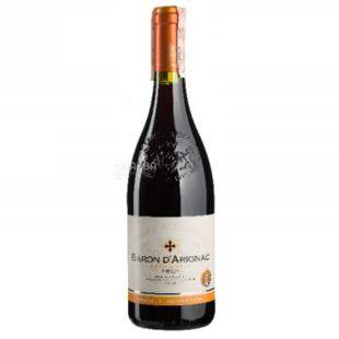 Baron d'Arignac, Rouge Medium Sweet, Вино красное полусладкое, 0,75 л