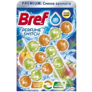 Bref, Туалетный блок для унитаза, Персик Яблоко, 50 г