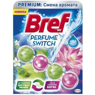 Bref, Туалетный блок для унитаза, Яблоко Лотос, 50 г