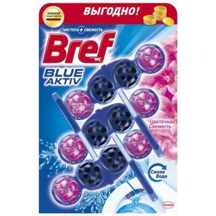 Bref, Туалетный блок для унитаза, Цветочная свежесть, 150 г