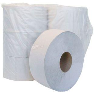 Bima Jumbo, Туалетная бумага серая однослойная, 130 м, 6 рулонов