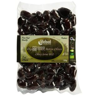 Lifefood, Оливки черные с Ботиха, Органические, 150 г