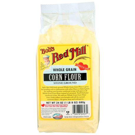 Bob's Red Mill, Corn Flour, 0,68 кг, Борошно Бобс Ред Мілл, кукурудзяне, органічне