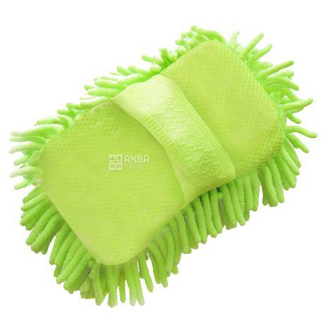 EcoKraft, 15х22 см, Щетка-рукавица, Для мойки автомобиля