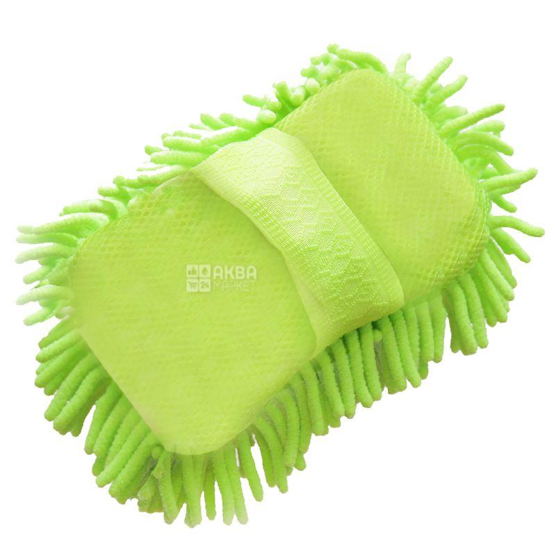 EcoKraft, 15x22 cm, Mitt-brush, For washing a car