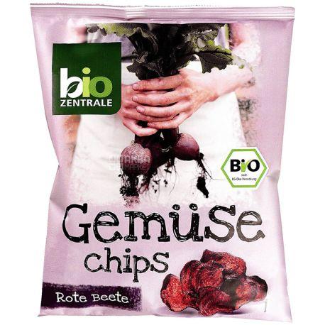 Bio Zentrale, Organic Beet Chips, 90 g