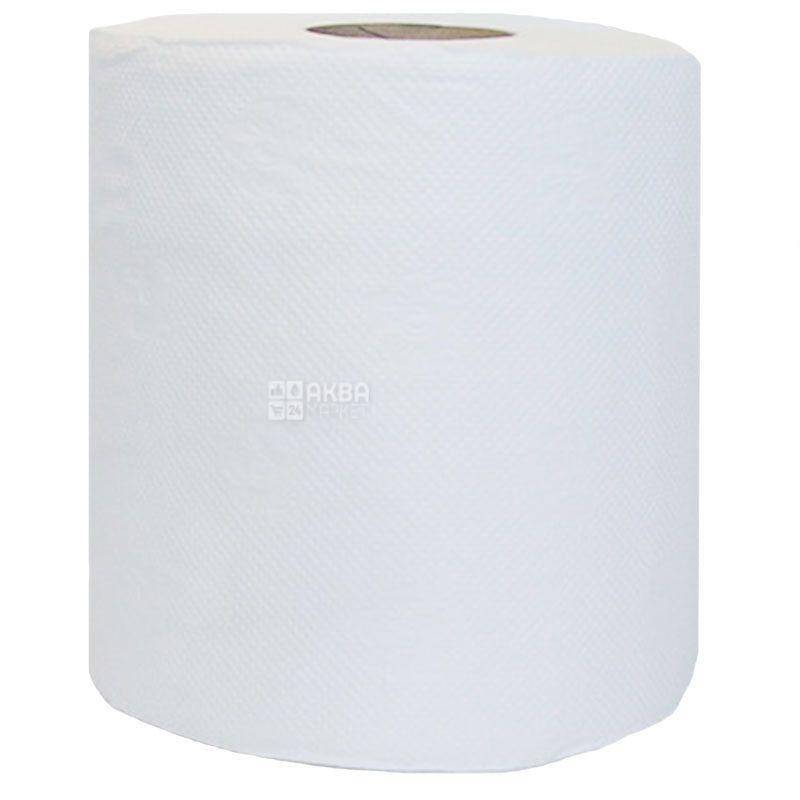 Bima, 1 рулон, Бумажные полотенца Бима, 2-х слойные, 650 отрывов, 130 м, 18х18 см