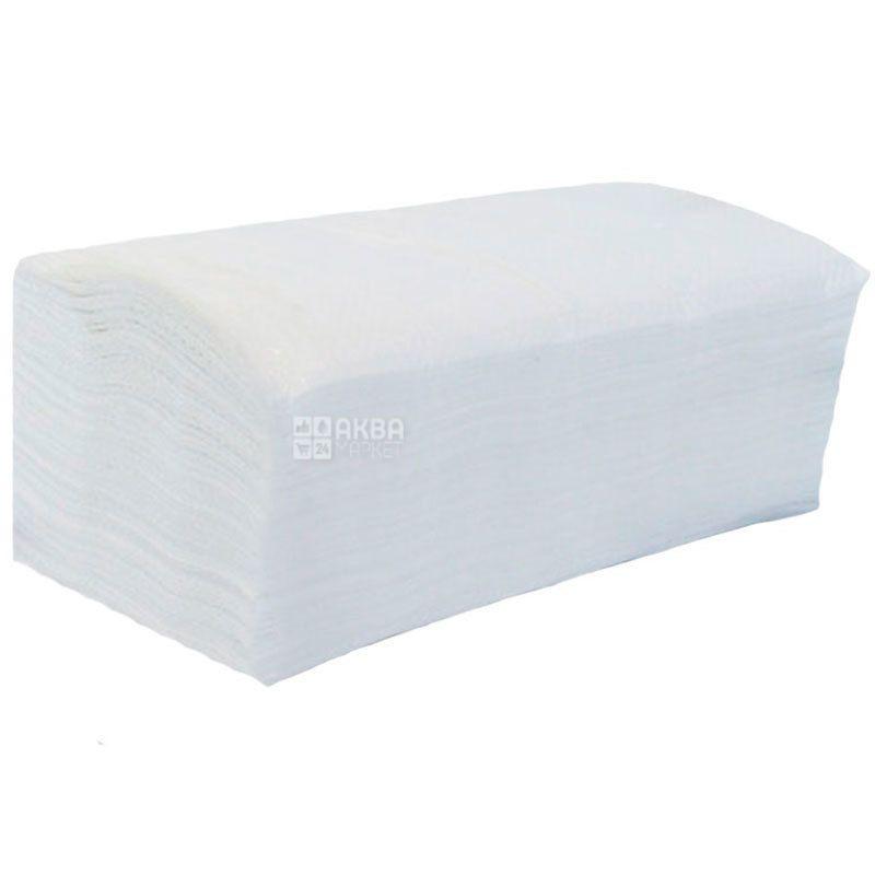 Bima, 150 шт., Рушники паперові Біма, 2-шарові, V-складання, 23х25 см