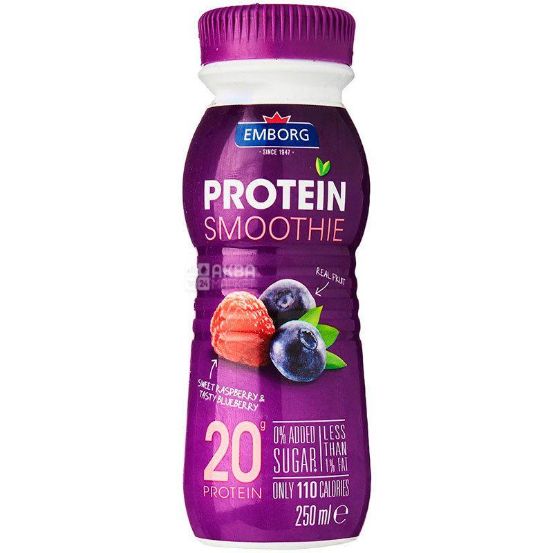 Emborg, Коктейль протеиновый Малина-Черника, 0,25 л