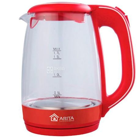 Arita AKT-9202R, Электрочайник, 1,7 л, 23x21,4x16,5 см