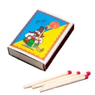 Сірники побутові, формат 4, 38шт., 1 коробок