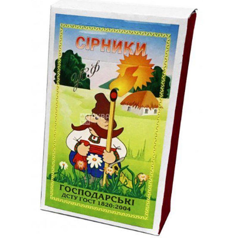 УСФ, Спички хозяйственные, 48 мм, 2000шт., XXL, 1 коробок