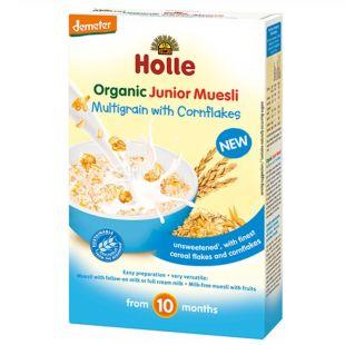 Holle, 250 г, Мюсли Холле, детские, с кукурузными хлопьями, органические, с 10 месяцев