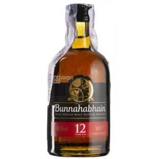 Bunnahabhain, Whiskey, 12 years of aging, 0.05 L
