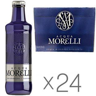 Acqua Morelli, 0,25 л, Упаковка 24 шт., Аква Морелли, Вода минеральная негазированная, стекло