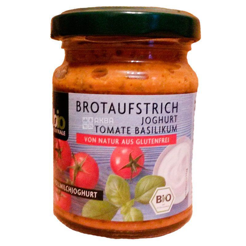 Bio Zentrale, Паста для бутербродов с йогуртом, томатами и базиликом, Органическая, 125 г