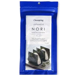 Clearspring, Nori seaweed, dried, 10 sheets, 25 g