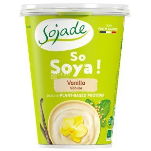 Sojade, Soybean Yogurt Vanilla, Organic, 400 g