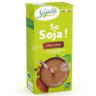 Sojade So Soya Chocolat Organic, 1 л, Сояде, Соевое молоко, шоколадное, органическое, безлактозное
