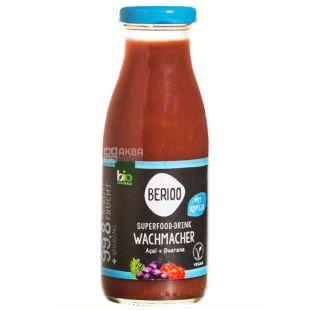 Berioo, Superfood-drink, Green, 0, 25 л, Берио, Напиток соковый, Асаи и гуарана, органический, стекло