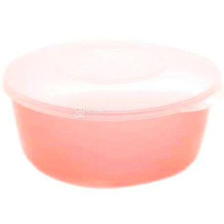 Hemoplast, Салатница с крышкой пластиковая, Оранжевая, 2,2 л