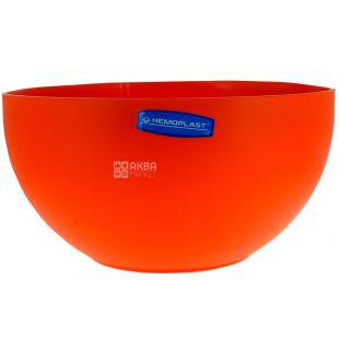 Hemoplast, Салатница пластиковая, Оранжевая, 4,4 л