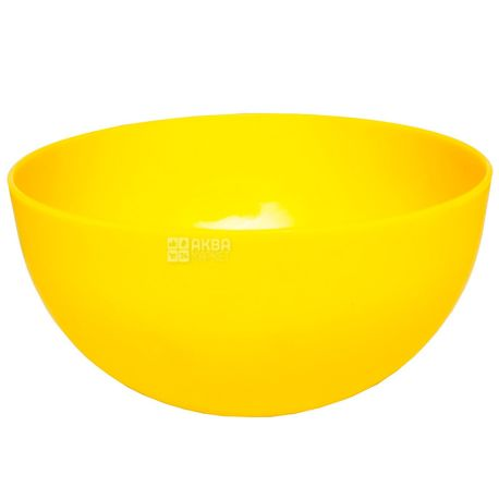 Hemoplast, Салатница пластиковая, Желтая, 2,2 л