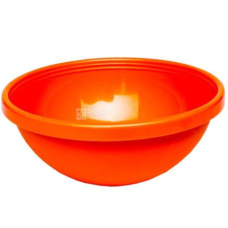 Hemoplast, Салатница пластиковая, Оранжевая, 1 л