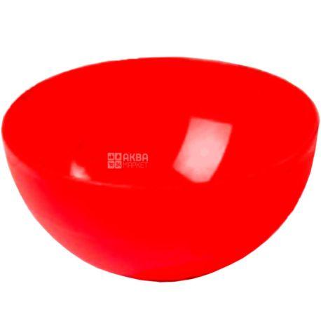 Hemoplast, Салатница пластиковая, Красная, 0,45 л