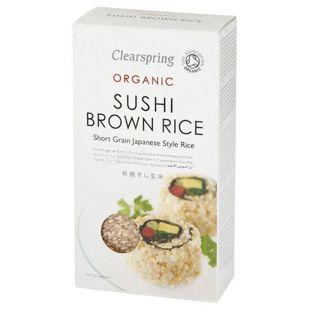 Clearspring, Рис для суші коричневий, органічний, 500 г