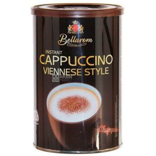 Bellarom, Cappuccino Viennese Style, 250 г, Белларом, Капучино по-венски, кофейный напиток, растворимый, туба