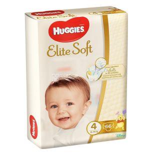Huggies, Підгузки Elite Soft 4 Mega, 8-14 кг, 66 шт.